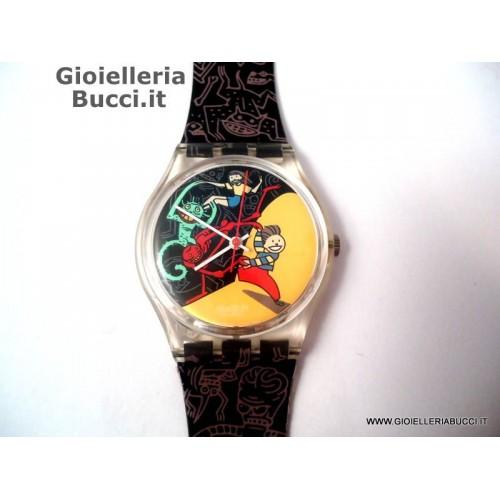 orologio swatch da collezione jugle tangle 1997 nuovo