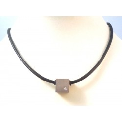 Men's stainless steel and DIAMOND NECKLACE BORSARI PRICE TAG £ 65