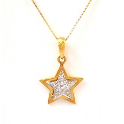 Con Recarlo Kt Oro E Collana Diamanti In Stella Giallo 18 n0kPwO