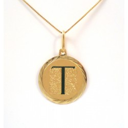 GOLD NECKLACE WITH LETTER-CHOOSE YOUR INITIAL