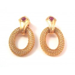 HOOP EARRINGS IN YELLOW GOLD 18 KT