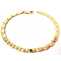 WOMEN'S BRACELET IN YELLOW GOLD 18 KT MODEL TENNIS