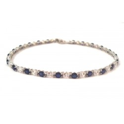 TENNIS BRACELET IN 18 carat white gold with GREEN ZIRCON