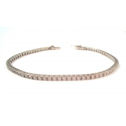 TENNIS BRACELET IN 18KT white gold and CUBIC ZIRCONIA and BLUE BENCHES