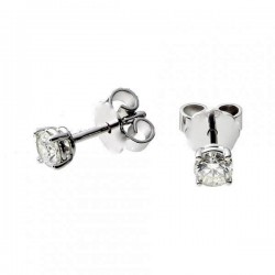 EARRINGS LIGHT POINT SOLITAIRE SILVER RHODIUM-PLATED WHITE GOLD