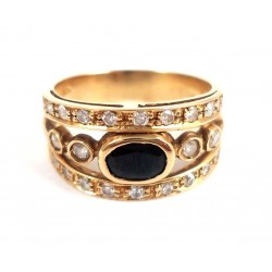 18 KT YELLOW GOLD RING with DIAMONDS