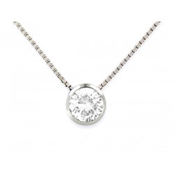 NECKLACE WHITE GOLD 18 KT RHODIUM-PLATED STUD