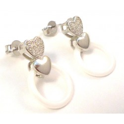 LIGHT HEART EARRINGS WITH CUBIC ZIRCONIA