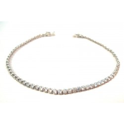 SILVER WHITE GOLD TENNIS BRACELET WITH ZIRCONS