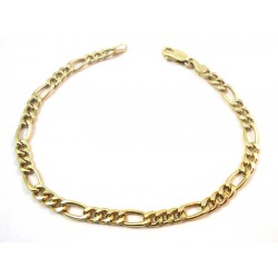 18 KT YELLOW GOLD CHAIN BRACELET