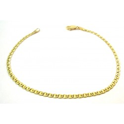UNSEX CHAIN BRACELET IN YELLOW GOLD 18 KT WORKING polished and satin finish