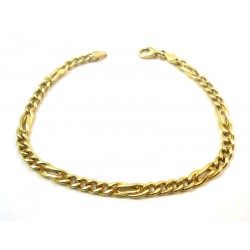 18 KT YELLOW GOLD BRACELET PATTERN STRING