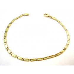18 KT YELLOW GOLD CHAIN BRACELET MEN'S MODEL