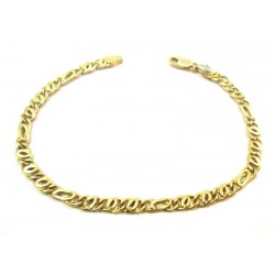 MEN'S CHAIN BRACELET IN yellow and white gold 18 KT