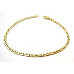 18 KT YELLOW GOLD CHAIN BRACELET UNISEX