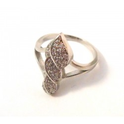 DARE RING WHITE GOLD 18 KT RHODIUM PLATED SILVER LADIES with CUBIC ZIRCONIA