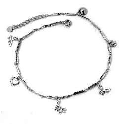 RHODIUM-PLATED SILVER BRACELET HAND 18 KT WHITE GOLD FAIRY with BRILLIANT CUT CUBIC ZIRCONIA
