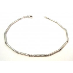 BRACELET UNISEX WHITE GOLD 18 KT WITH BALLS