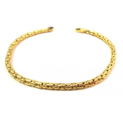 BRACELET FROM WOMAN IN GOLD YELLOW 18 KT TUBULAR PROCESS