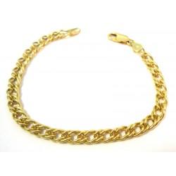 CHAIN BRACELET, DOUBLE WEAVE IN YELLOW GOLD 18 KT UNISEX