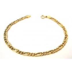 BRACELET CHAIN MEN'S YELLOW GOLD 18 KT