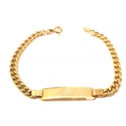 UNISEX BRACELET IN YELLOW GOLD 18 KT