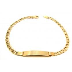 18 KT YELLOW GOLD ID BRACELET
