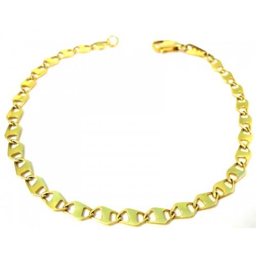 f2aa8538b3de 18 amarillo KT y oro blanco pulsera de cadena