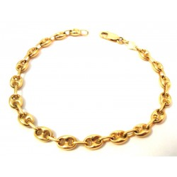 18 KT yellow and white gold CHAIN BRACELET