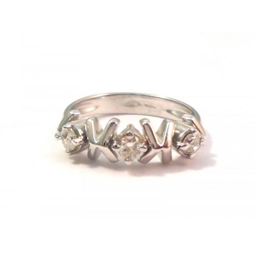 ring trilogy diamant damen wei gold 18 kt. Black Bedroom Furniture Sets. Home Design Ideas