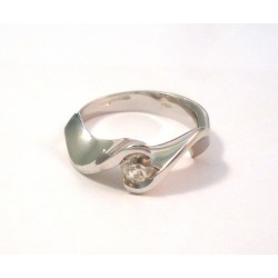 TRILOGY RING 18 KT WHITE GOLD and DIAMOND WOMEN