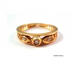ANELLO IN ORO GIALLO 18 KT CON DIAMANTI