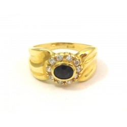 18 KT YELLOW GOLD LADIES RING with ZIRCON