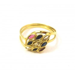 18 KT YELLOW GOLD PINK RING of FRANCE NIGHTGOWN
