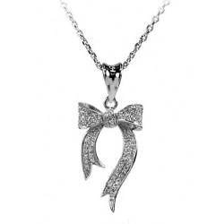 18 KT de oro blanco Rodio plata collar de rubíes y brillantes corte CUBIC ZIRCONIA