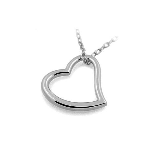 18 KT WHITE GOLD NECKLACE with SILVER BOW BRILLIANT CUT CUBIC ZIRCONIA