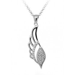 SILVER HEART NECKLACE WHITE GOLD 18 KT