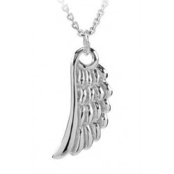 18 KT WHITE GOLD RHODIUM SILVER ANGEL NECKLACE with BRILLIANT CUT CUBIC ZIRCONIA