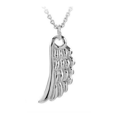 297bef1d0074 18 KT de oro blanco Rodio plata ANGEL collar con brillantes corte ZIRCONIA  cúbico
