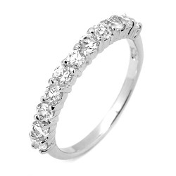 LADY'S RING IN 18 KT WHITE GOLD RHODIUM SILVER HEART with zirconia