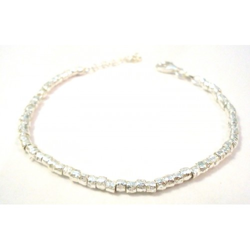 RHODIUM-PLATED SILVER BRACELET WHITE GOLD 18 KT STYLE DODO '