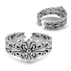 RING SILVER RHODIUM-PLATED WHITE GOLD 18 KT