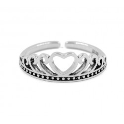 18 KT WHITE GOLD RING with SILVER IN the DAISIES