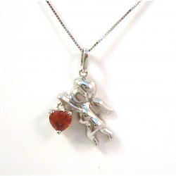 18 KT WHITE GOLD RHODIUM SILVER FLOWER NECKLACE with CUBIC ZIRCONIA