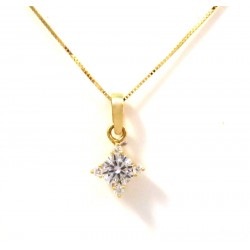 VENETIAN NECKLACE with LIGHT POINT IN 18 KT YELLOW GOLD CUBIC ZIRCONIA