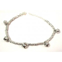 WOMEN'S WHITE GOLD BRACELET WITH SILVER BELLS STYLE DODO '