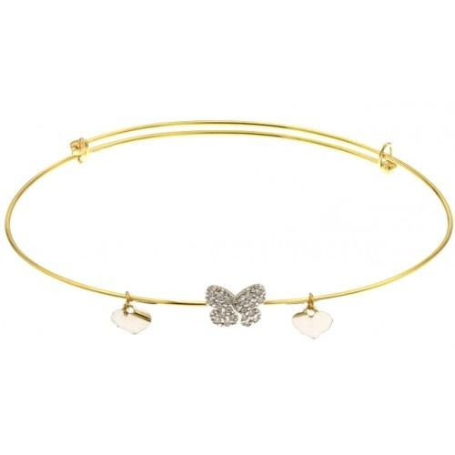 bracelet femme coeur or blanc