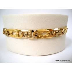 CHAIN ​​BRACELET IN YELLOW AND WHITE GOLD 18 KT