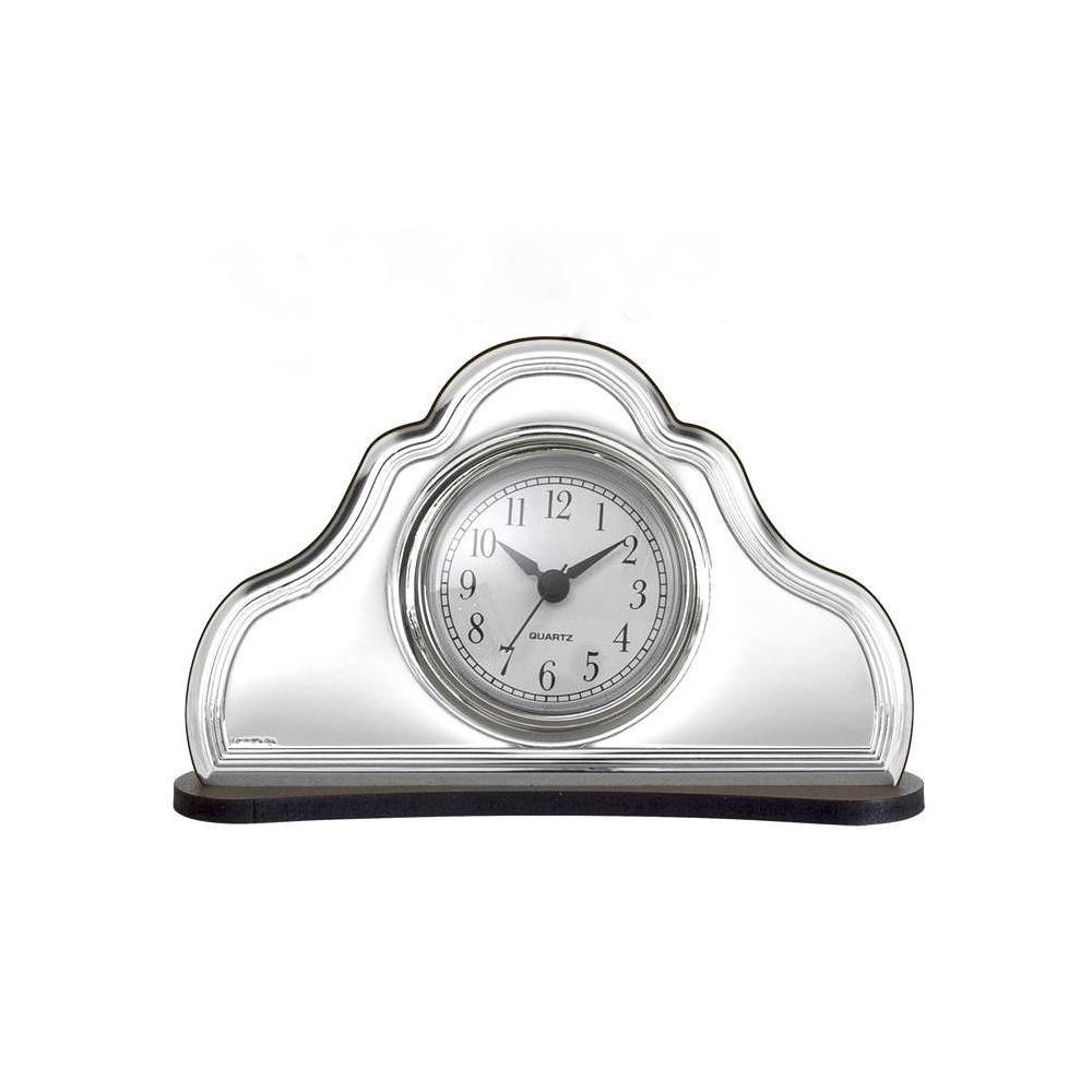 Orologio sveglia da tavolo in argento e legno bel4612 8 for Orologio da tavolo legno
