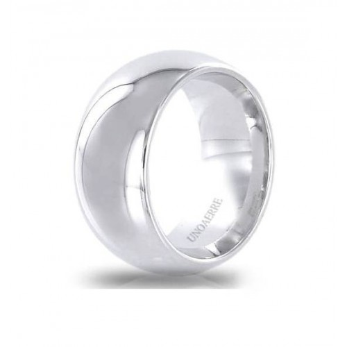 UNOAERRE RING IN STERLING SILVER WIDE BAND